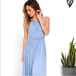 NWT Lulus Resort Life light blue maxi dress
